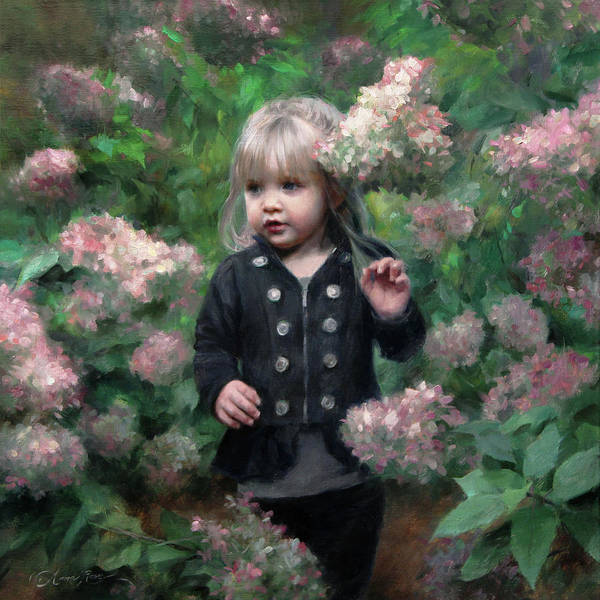 Toddler Painting - Enchanted Blossoms by Anna Rose Bain
