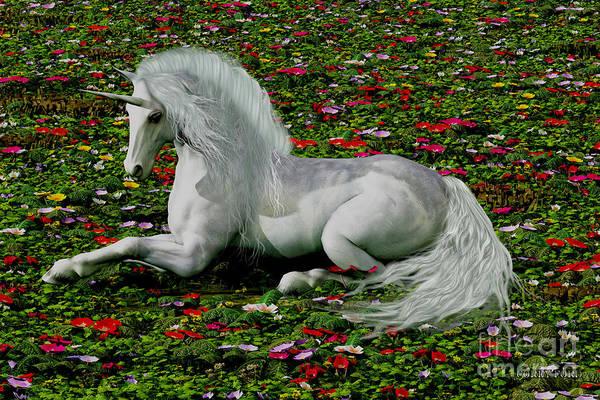 Unicorn Horn Digital Art - Enchanted by Corey Ford