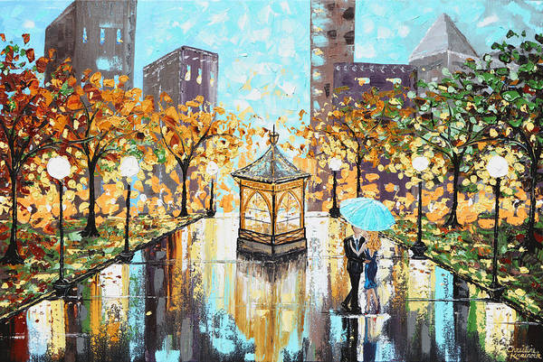 Wall Art - Painting - Enchanted Evening by Christine Bell