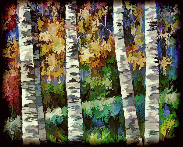 Painting - Enchanted Forest by OLena Art - Lena Owens