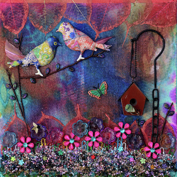 Wall Art - Mixed Media - Enchanted Patchwork by Donna Blackhall