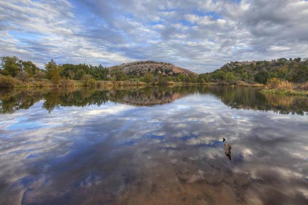 Enchanted Rock State Park Photograph - Enchanted Rock Autumn Skies 2 by Rob Greebon