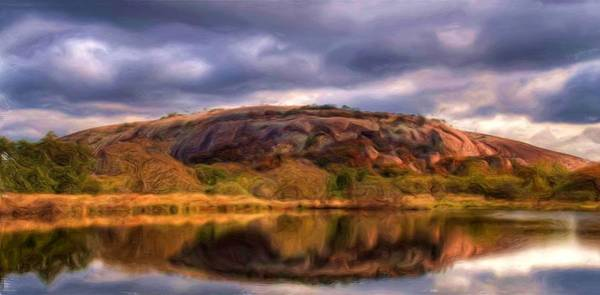 Painting - Enchanted Rock by Troy Caperton
