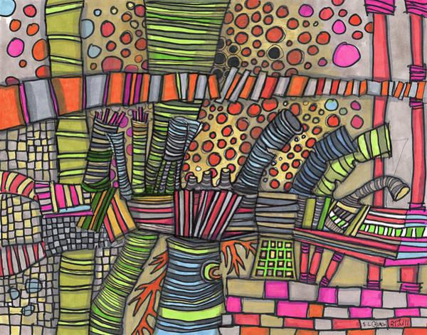 Semi Abstract Drawing - Enchanted by Sandra Church