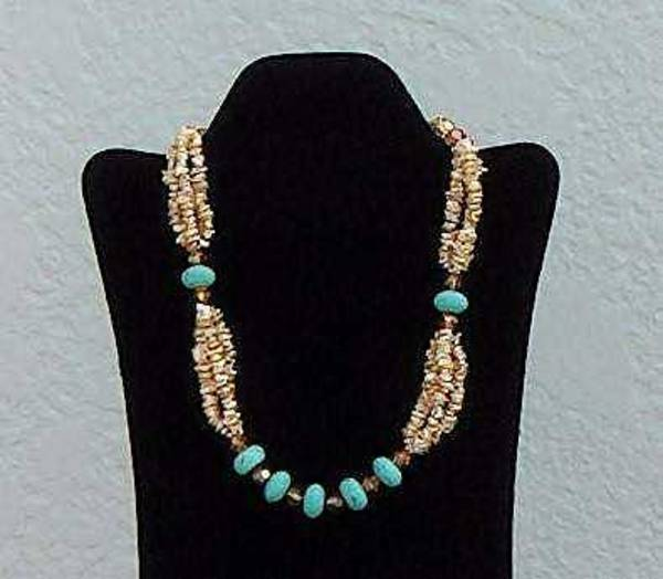 Freshwater Pearls Wall Art - Jewelry - Enchanted Turquoise by Eleanor Love
