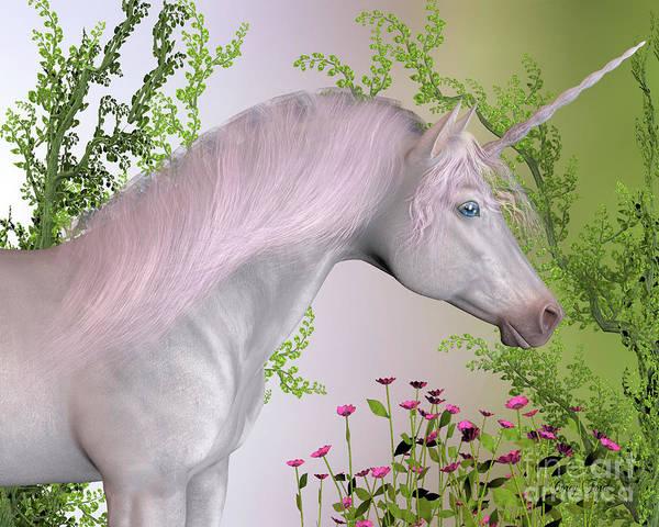 Unicorn Horn Digital Art - Enchanted Unicorn by Corey Ford