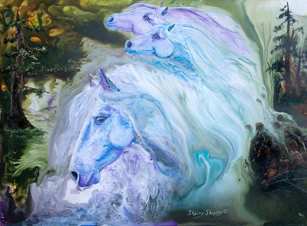 Painting - Enchanted Waters by Sherry Shipley