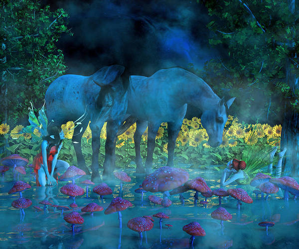 Dapple Digital Art - Enchanting Dreams by Betsy Knapp
