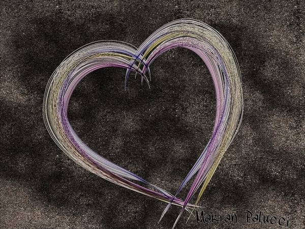 Mixed Media - Enchanting Evening Heart by Marian Palucci-Lonzetta