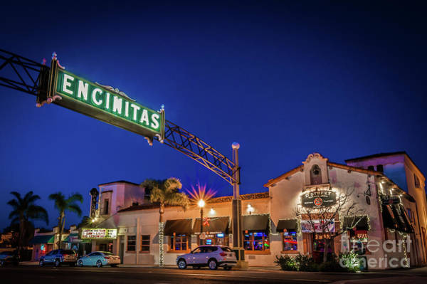 Photograph - Encinitas Welcome Sign by David Levin