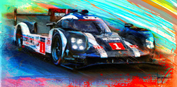 Le Mans Mixed Media - Encore by Alan Greene