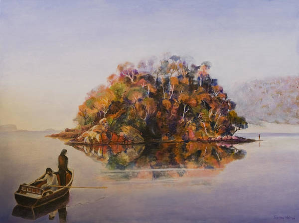 Painting - Encounter At Wineglass Bay by Jeremy Holton