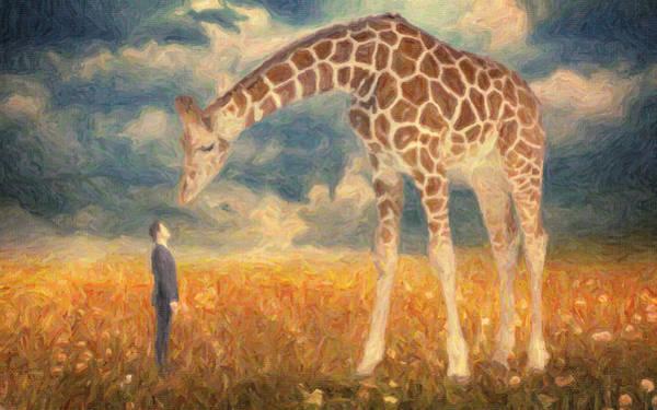 Salvador Dali Painting - Encounter by Zapista Zapista