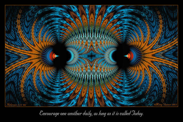 Digital Art - Encourage One Another by Missy Gainer