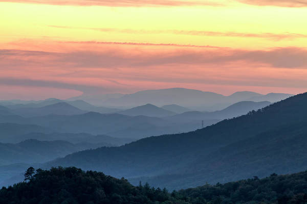 Photograph - End Of A Day In The Great Smoky Mountains by Teri Virbickis