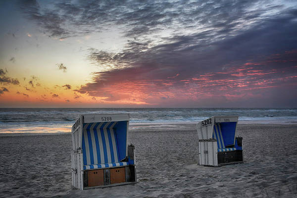 Wicker Chair Photograph - End Of A Day On Sylt by Joachim G Pinkawa