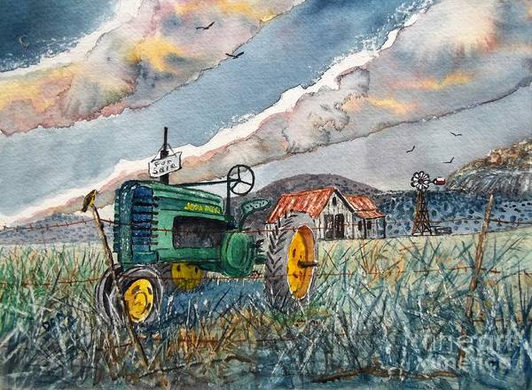 Meadowlark Painting - End Of A Era by Don Hand