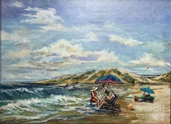 End Of Beach Day  Art Print