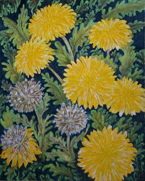 Dandilions Painting - End Of Summer by Bob Craig