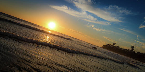 Photograph - End Of Summer Sunset Surf by T Brian Jones
