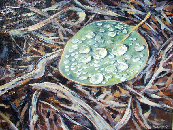 Wall Art - Painting - End Of The Drought by Ekaterina Mortensen