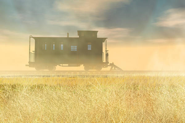Caboose Wall Art - Digital Art - End Of The Line II by Carol and Mike Werner