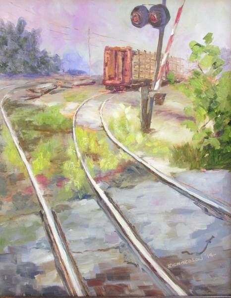 Freight Trains Painting - End Of The Line by Susan Richardson