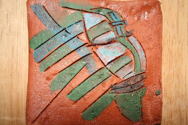 Ceramic Art - Ende - Tile by Gloria Ssali