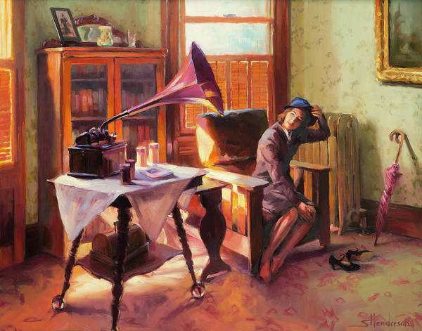 Nostalgia Painting - Ending The Day On A Good Note by Steve Henderson
