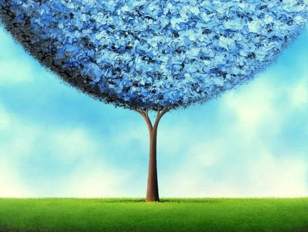 Wall Art - Painting - Endless Blue by Rachel Bingaman
