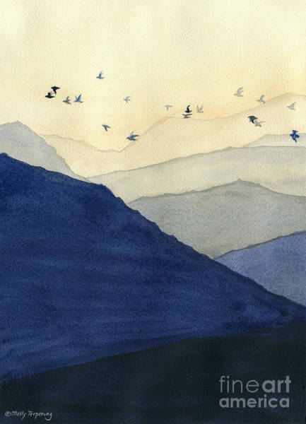 Endless Painting - Endless Mountains Left Panel by Melly Terpening