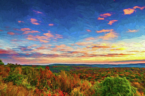 Wall Art - Photograph - Endless Mountains Sunset 5 - Paint  by Steve Harrington