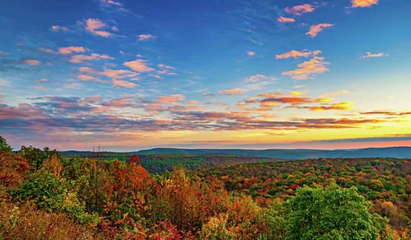 Wall Art - Photograph - Endless Mountains Sunset 5 by Steve Harrington
