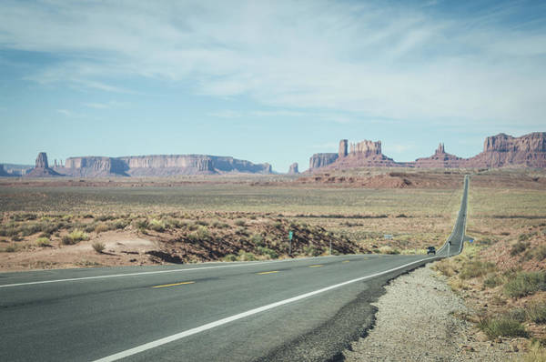 Photograph - Endless Roads In Monument Valley by Margaret Pitcher