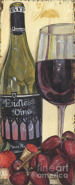 Label Painting - Endless Vine Panel by Debbie DeWitt