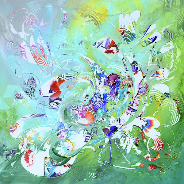 Wall Art - Painting - Endless Well Of Joy by Susan Card