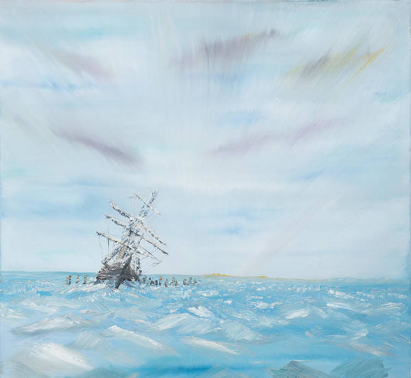 Shipwreck Painting - Endurance Trapped By The Antarctic Ice by Vincent Alexander Booth