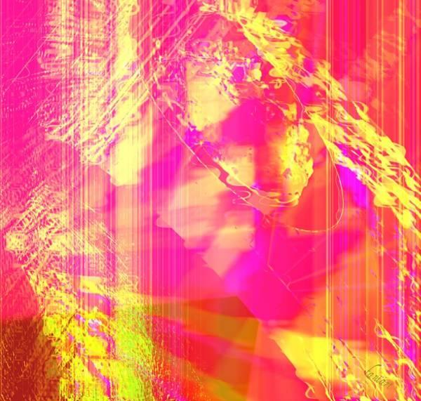 Harp Mixed Media - Energic Light by Fania Simon