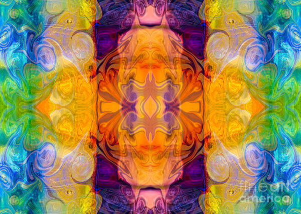 Digital Art - Energy Chambers Abstract Bliss Designs By Omashte by Omaste Witkowski