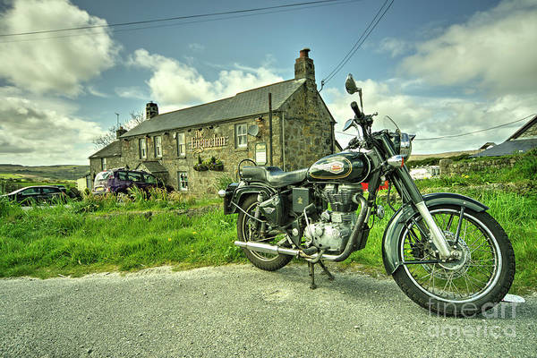 Wall Art - Photograph - Enfield Bullet At The Engine Inn  by Rob Hawkins