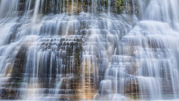 Upstate Photograph - Lower Falls Cascade #1 by Stephen Stookey