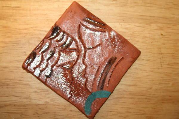 Ceramic Art - Engage - Tile by Gloria Ssali