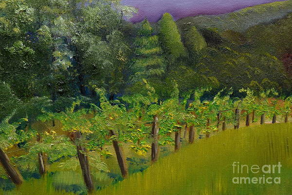 Painting - Engelheim Vineyard - Ellijay - Plein Air Oil by Jan Dappen
