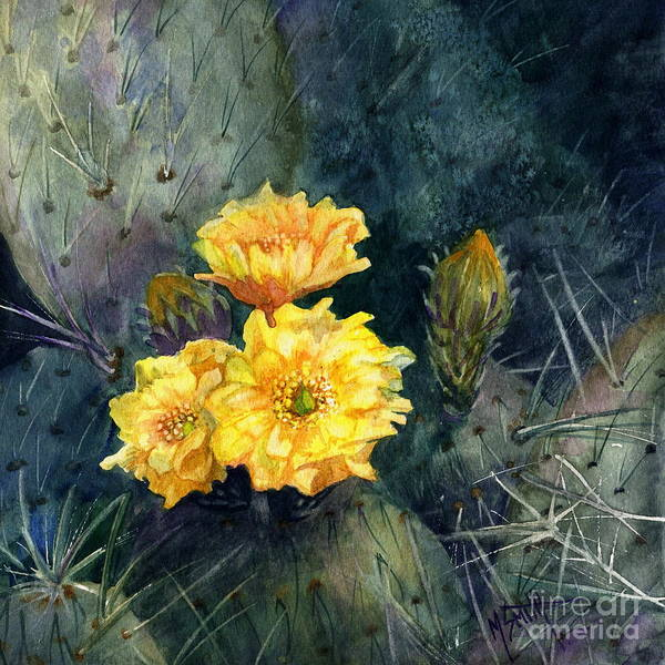 Painting - Engelmann Prickly Pear Cactus by Marilyn Smith