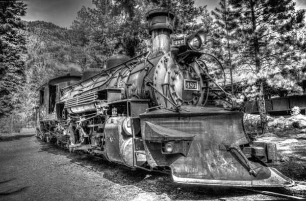 Photograph - Engine 486 No.1 Black And White by TL  Mair