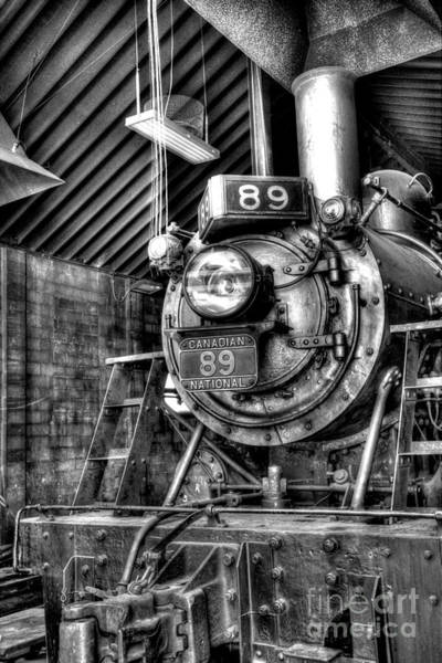 Photograph - Engine 89 In Shed by Paul W Faust - Impressions of Light