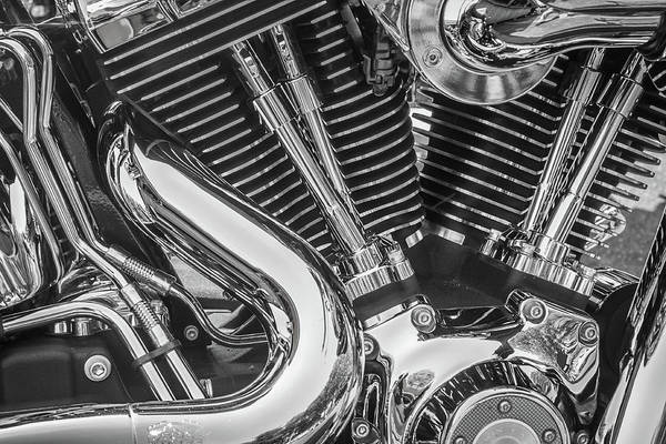 Photograph - Engine Chrome In Black And White by Samuel M Purvis III