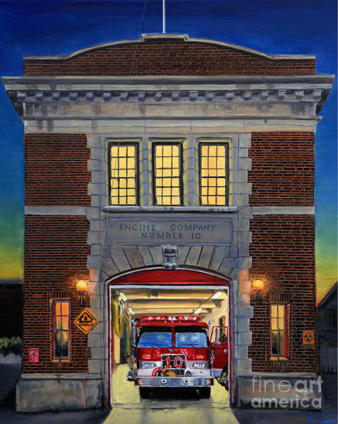 Wall Art - Painting - Engine Company 10 by Paul Walsh