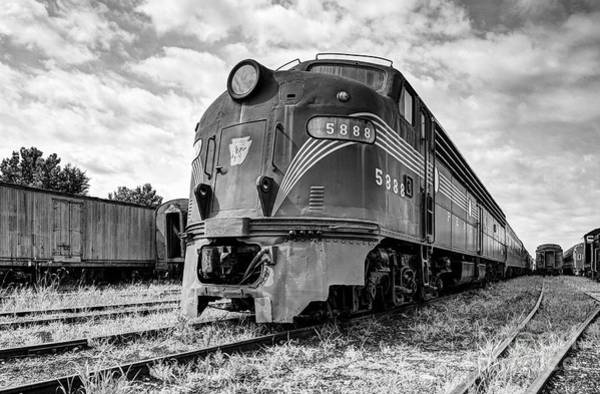 Photograph - Engine Number 5888 Black And White by Mel Steinhauer