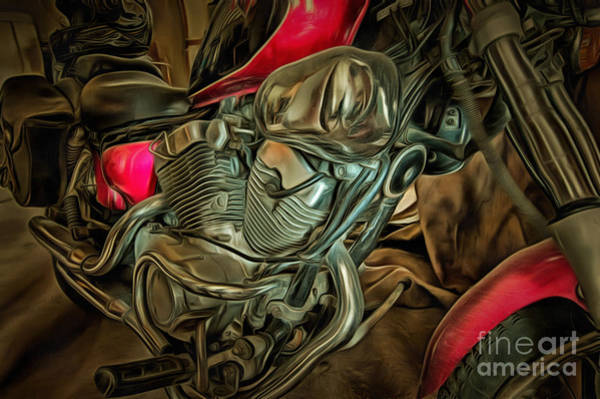 Wall Art - Photograph - Engine Of Motorcycle by Michal Boubin